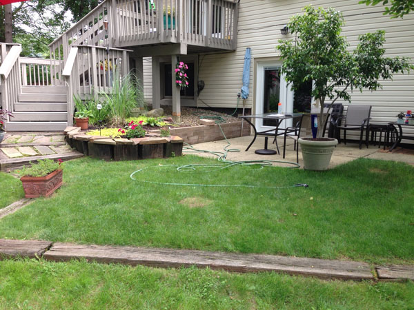 G m concrete before after for Walkout basement patio