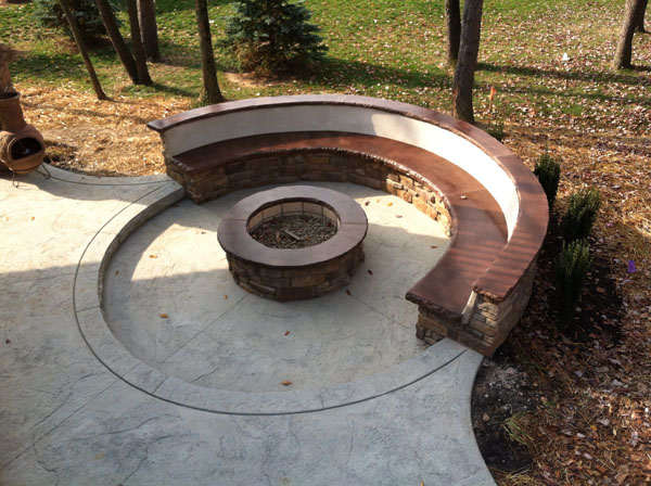 GFRC Custom Firepit and Bench