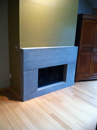 Modern Contemporary Fireplace Mantel and Surround