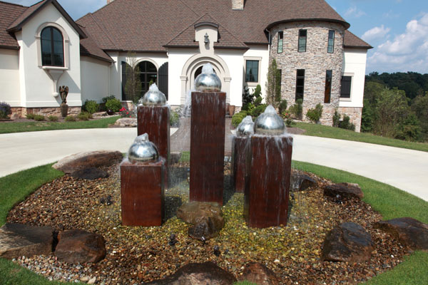 Contemporary Concrete Water Fountain