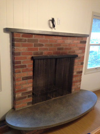 Interior Fireplace Mantel and Hearth Accent