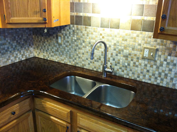 Incroyable ... Polished Concrete Countertop Around Existing Sunken Stainless Steel Sink