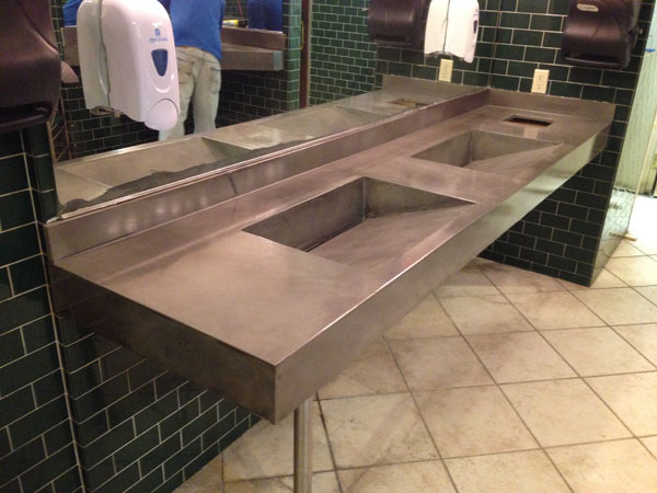 Bathroom Sinks Commercial g&m concrete | commercial concrete countertops