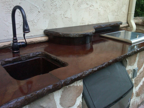 Outdoor Concrete Countertops With Undermount Sink Massillon, Ohio