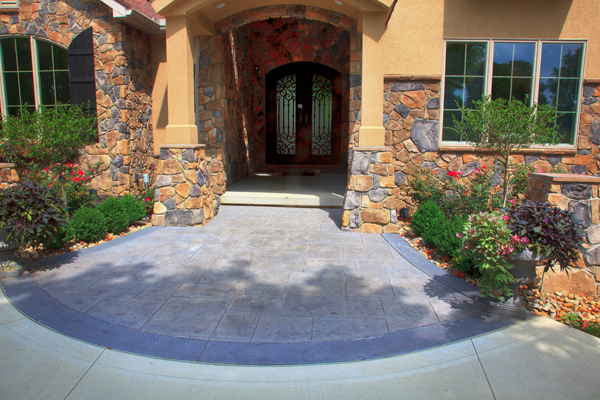 Front Entry Way Stamped Overlay