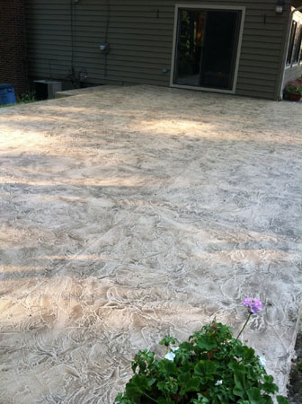 Resurfaced Patio Makeover