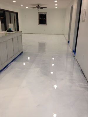 White Epoxy Flooring