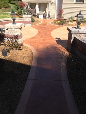 Patio with Antique Dyed Walkway