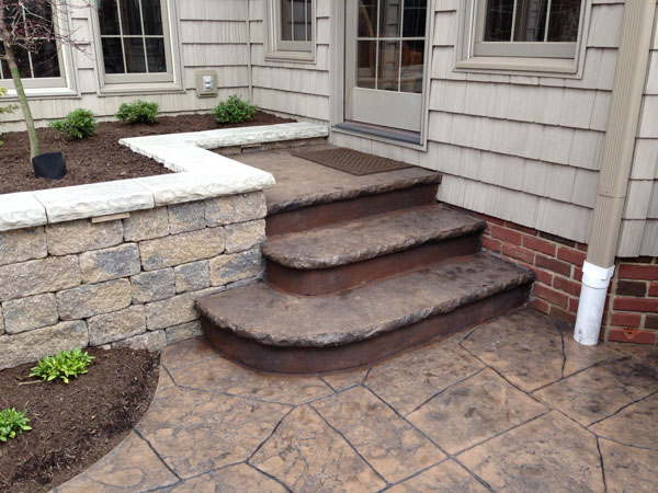 Captivating ... Concrete Steps To Match Stamped Concrete Patio