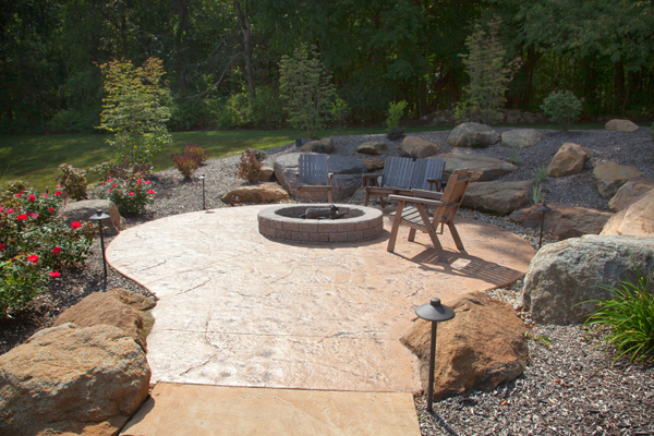 Pool patios ideas covered patio with outdoor kitchen covered patio - G Amp M Concrete Stamped Amp Decorative