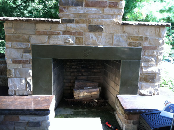 Stamped Concrete Fireplaces : G m concrete stamped decorative