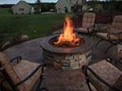Gas Firepit with Custom Concrete Top