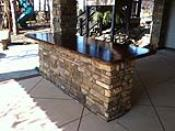 Outdoor Bar Island with Concrete Countertop