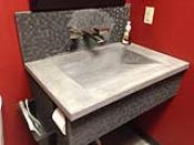Grey Ramped Concrete Sink at Deco-Crete Supply