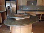 Tiered Round Island Countertops