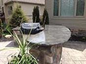 Outdoor Bar and Grill Concrete Countertop