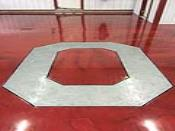 Customized Logo Epoxy Flooring Detail