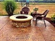 Acid Stained Concrete Firepit