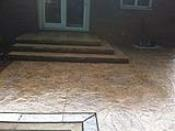 Brown Textured Concrete Patio and Steps
