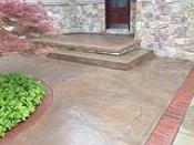 Sandblasted and Resurface Stained Entry Patio