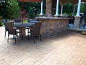 Paver Pattern Stamped Concrete Patio